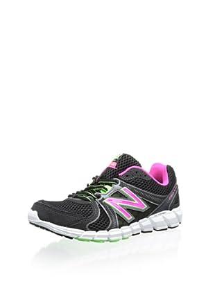New Balance Women's W750 Neutral Running Shoe (Black/Green)