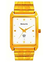 Sonata Analog White Dial Men's Watch - NF7007YM01A