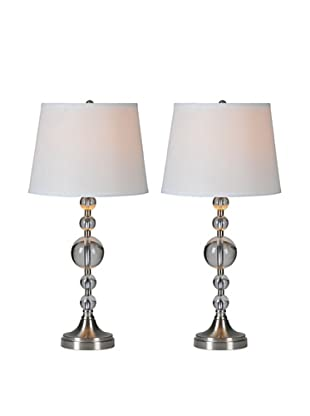 Set of 2 Amarion Lamps, Chrome