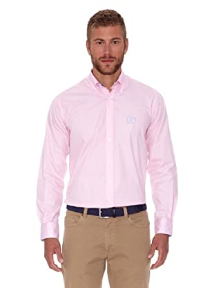 Polo Club Camisa Hombre Fitted Logo (Rosa)
