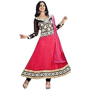 Rukulpreet Singh Faux Georgette Pink Anarkali Suit