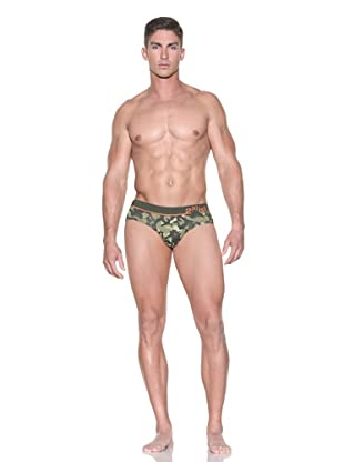 2(x)ist Men's Camo No-Show Brief (3-Pack) (Military Green)