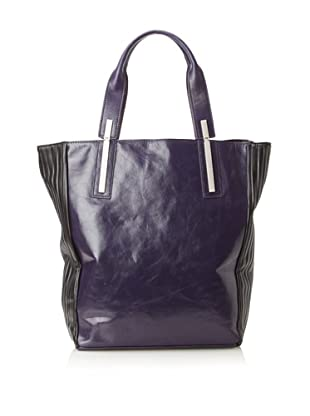 Walter Women's Chiron Leather Tote (Plum/Black)