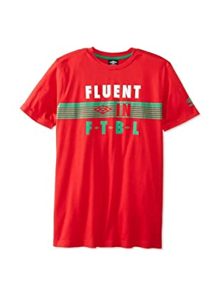 Umbro Men's Fluent in Futbol Tee (Mexico True Red)