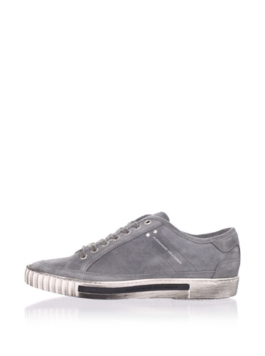 Alessandro Dell Acqua Men's Range Distressed Sneaker (Grey)