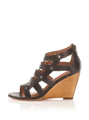 Corso Como Women's Leila Wedge Sandal (Black Calf)