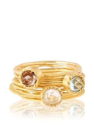 Kevia Three Small Rose Cut Stone Rings