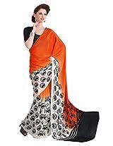 Cenizas Printed Georgette Sari