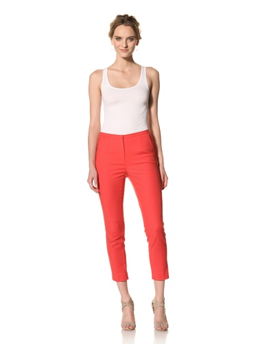 Les Copains Women's White Label Pant (Red)