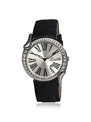 Bertha Women's BR2501 Olive Black/Silver Leather Watch
