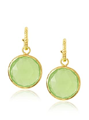 Coralia Leets Interchangeable Green Chalcedony Hoop Earrings