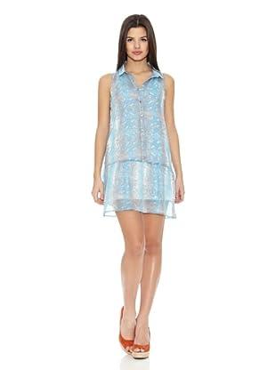 Springfield Vestido Snake Dress (Azul Claro / Tostado)