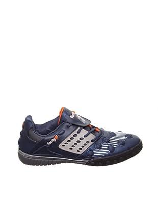 Footgol Sneakers Schnürung seitlich (índigo/silber/orange)