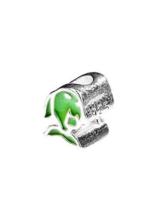 Angel Devil Abalorio de Plata de Ley 925 Pez Verde