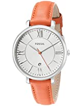 Fossil End-of-Season Jacqueline Analog Silver Dial Women's Watch - ES3735