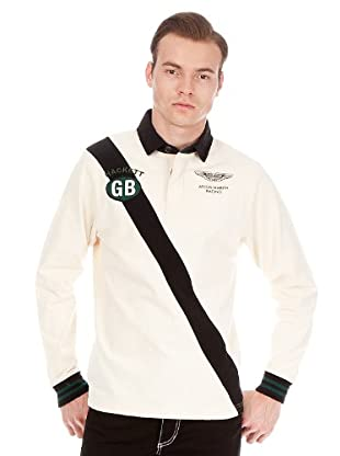 Hackett Polo Franja (Blanco)