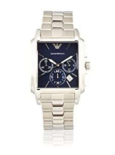 Emporio Armani Men's AR0480 Classic Chronograph Stainless Steel Blue Dial Watch