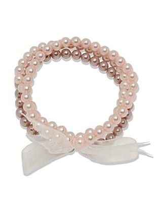 Perldor 60650124 - Pulsera de mujer con perla natural Rosa 20 cm