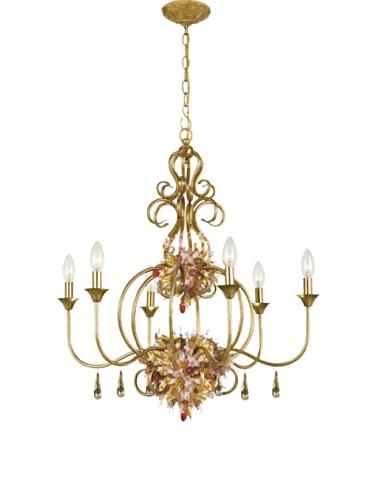 Gold Coast Lighting Fiore Chandelier Antique Gold