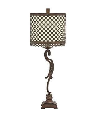 Metal Flourish Table Lamp, Beige