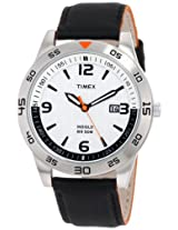 Timex Men's T2N695 Elevated Classics Dress Sport Collection Black Leather Strap Watch