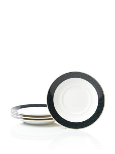 Noritake Set of 4 Everyday Elegance Verdena Saucers (Platinum)