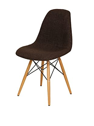 Stilnovo Ansgar Side Chair, Chocolate/Wood