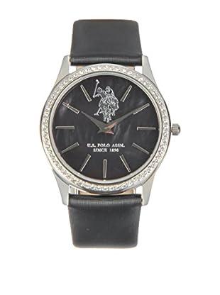 U.S. POLO ASSN. Uhr mit japanischem Quarzuhrwerk Daisy schwarz 36 mm