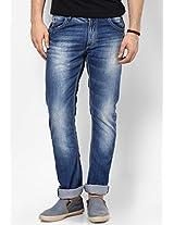 Blue Narrow Fit Jeans Spykar