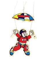 Skillofun Wooden Achievers - Para Jumper and the Parachute, Multi Color