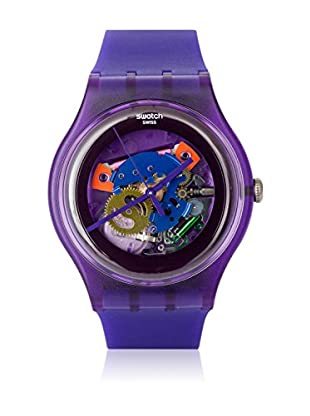 Swatch Quarzuhr Unisex Unisex PURPLE LACQUERED SUOV100 41.0 mm