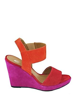 Eye Shoes Sandalias Bicolor (Rojo / Malva)