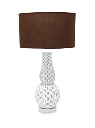 Horizons Chain Link Table Lamp, White