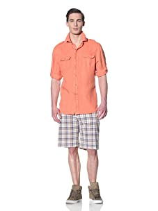 Tailor Vintage Men's Cargo Pocket Shirt (Coral)