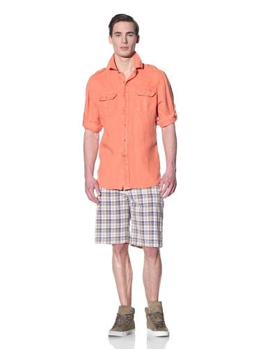 Tailor Vintage Men's Cargo Pocket Shirt (Coral)