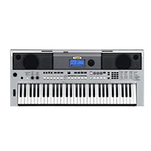 Yamaha PSRI455 Digital Keyboard, Silver