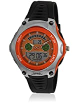 I18912 Black/Orange Analog & Digital Watch