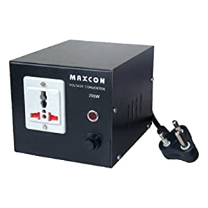 MX VOLTAGE CONVERTER - CONVERTS AC 220 VOLTS TO 110 VOLTS - 1000 WATTS - WITH UNIVERSAL SOCKET - MX 1174A