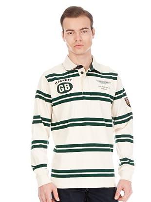 Hackett Polo Casual (Crudo / Verde)