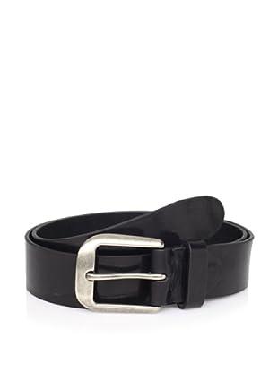 Bolliver Men's Basic Leather Belt (Black)