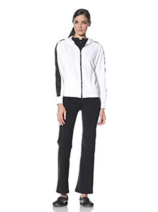 Body Up Women's Piece It Together Jacket (White/Black)