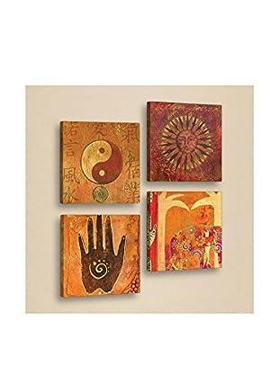 Dekorjinal Set, 4-teilig dekoratives Bild Tul027 (mehrfarbig)
