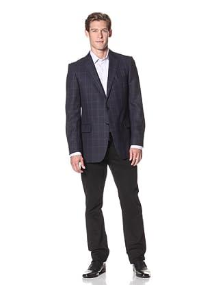 Joseph Abboud Men's Hudson Fit Solid 2-Button Sportcoat (Navy)
