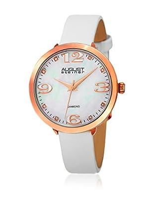 August Steiner Uhr mit japanischem Quarzuhrwerk  weiß 37 mm