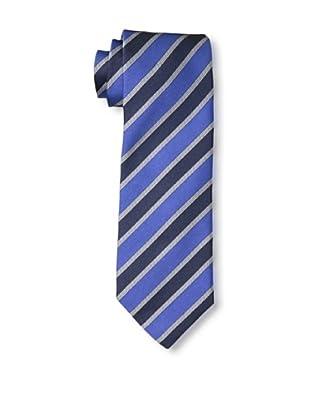 Rossovivo Men's Striped Tie, Royal/Navy