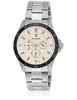 1623Km02J Silver/White Analog Watch