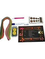 Starter Quilling Kit- Board Crimper Needle Glue Tweezer 200 Strips&Quilling Book