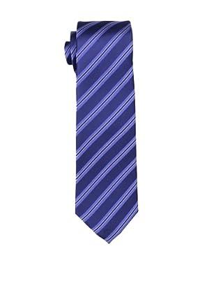 Yves Saint Laurent Men's Triple Stripe Tie, Navy/Blue