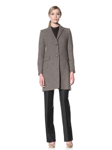 Luciano Barbera Women's Long Wool Coat (Beige)
