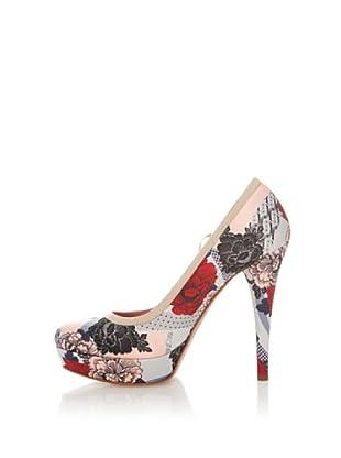 Fornarina Zapatos Estampado (Rojo / Miel)